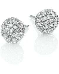 Phillips House - Affair Micro Infinity Diamond & 14k White Gold Stud Earrings - Lyst