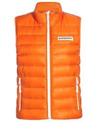 Burberry Hartlepool Down Puffer Vest - Orange