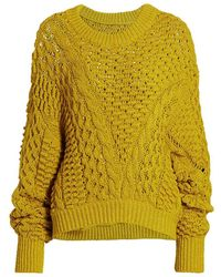 3.1 Phillip Lim Cable-knit Crewneck Sweate - Yellow