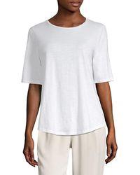 Eileen Fisher Organic Cotton System Crew-neck T-shirt - White