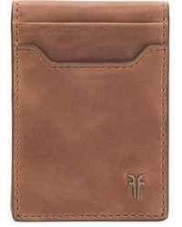 Frye Holden Leather Folded Card Case - Brown