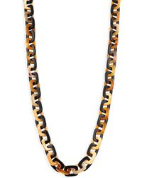 Nest - Mixed Horn Rectangle Link Necklace - Lyst