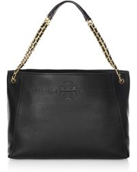 Tory Burch - Mcgraw Leather Slouchy Tote - Lyst