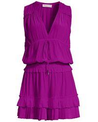 Ramy Brook Hadley Ruffled Blouson Dress - Blue