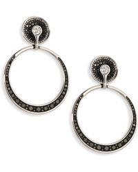 Plevé - Black Burst Diamond & 18k White Gold Opus Hoop Earrings - Lyst