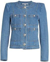 Veronica Beard Ferazia Denim Jacket - Blue