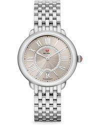 Michele Watches - Serein Mid Stainless Steel Cashmere Diamond Watch - Lyst