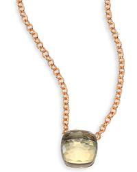 Pomellato - Prasiolite & 18k Rose Gold Pendant Necklace - Lyst