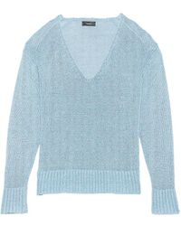 Theory - Easy Linen V-neck Pullover - Lyst