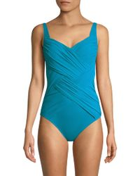 Gottex - Square Neck Swimsuit - Lyst