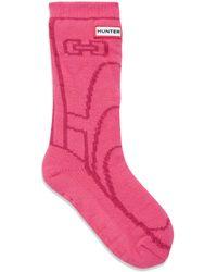 HUNTER - Girl's Graphic Boot Slipper Socks - Lyst