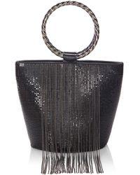 Whiting & Davis - Bracelet Fringe Bucket Bag - Lyst