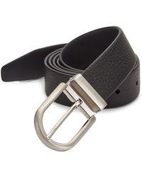 Giorgio Armani - Textured Leather Belt - Lyst