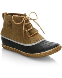 Sorel - Out N' About Leather Duck Boots - Lyst