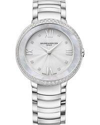 Baume & Mercier - Promesse 10199 Stainless Steel Bracelet Watch - Lyst