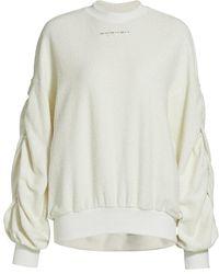 Twenty Sunnyside Shirred Sleeve Top - White