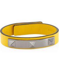 Valentino - Studded Leather Bracelet - Lyst