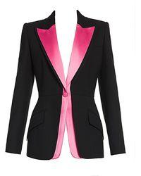 Alexander McQueen Bi-color Jacket - Black