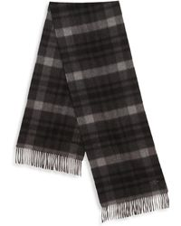 Hickey Freeman - Plaid Cashmere Scarf - Lyst