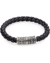 Stephen Webster - Sterling Silver & Woven Rubber Bracelet - Lyst