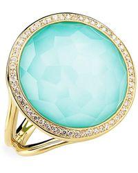 Ippolita Lollipop® 18k Yellow Gold Diamond & Turquoise Ring - Blue