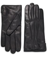 Saks Fifth Avenue Leather Gloves - Red