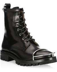 Alexander Wang - Lyndon Box Leather Combat Boots - Lyst