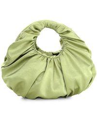 Nanushka Anja Satin Top Handle Bag - Green