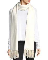 Donni Charm Poodle Long Scarf - White