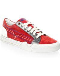 DIESEL - Grindd Leather Sneakers - Lyst