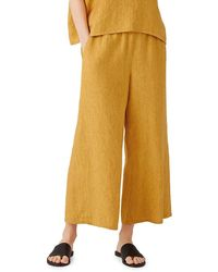 Eileen Fisher Wide-leg Cropped Pants - Multicolor