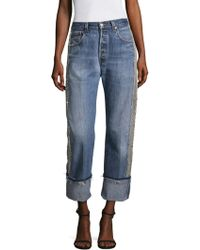 Kendall + Kylie - Sequin Denim Jeans - Lyst