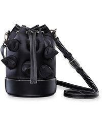 Moncler Genius 1 Moncler Jw Anderson Mini Spike Critter Bucket Bag - Black