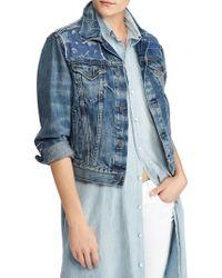 Polo Ralph Lauren - Trucker Cropped Denim Jacket - Lyst