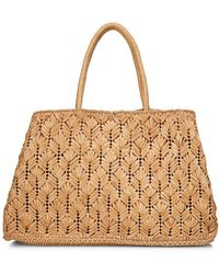 Carrie Forbes Large Raffia Tote - Multicolor