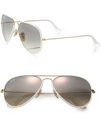 Ray-Ban Rb3025 58mm Aviator Sunglasses - Gray