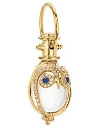 Temple St. Clair Tree Of Life Rock Crystal, Diamond, Sapphire & 18k Yellow Gold Owl Amulet - Metallic