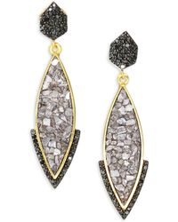 Shana Gulati - Rani Ameerah Pave Black Diamond Drop Earrings - Lyst