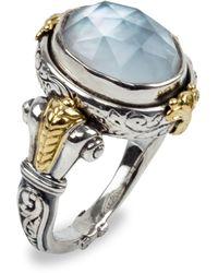 Konstantino Hestia Mother-of-pearl Doublet Ring, Size 7 - Metallic