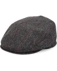 Saks Fifth Avenue - Collection Herringbone Plaid Classic Wool Ivy Cap - Lyst