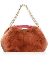 Edie Parker - Aliza Fur Top Handle Bag - Lyst