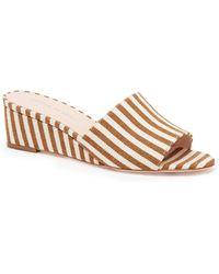 Loeffler Randall | Tilly Striped Cotton Wedges | Lyst