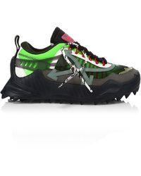 Off-White c/o Virgil Abloh Odsy 1000 Platform Runner Sneakers - Green