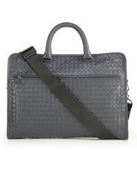 Bottega Veneta - Leggeron Intrecciato Leather Briefcase - Lyst