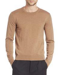 AMI - Fine Gauge Wool Sweater - Lyst