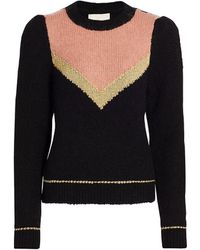 byTiMo Hairy Knit Glitter Sweater - Black