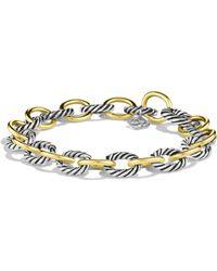 David Yurman - Oval Large Link Bracelet With Gold - Lyst
