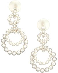 Lele Sadoughi Loop-de-loop 14k Gold & Faux Pearl Earrings - Metallic
