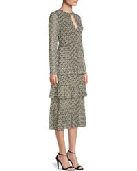 Alexis - Junino Tiered Ruffle Printed A-line Dress - Lyst
