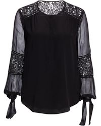 Rebecca Taylor - Silk Lace-panel Top - Lyst